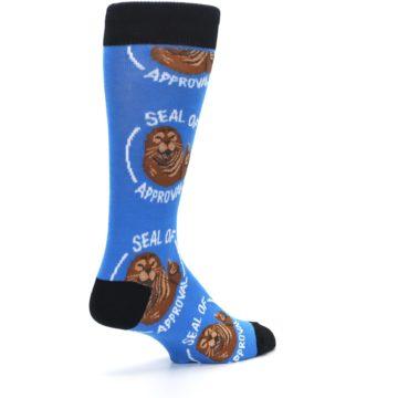 Image of Blue Seal of Approval Men's Dress Socks (side-1-back-22)