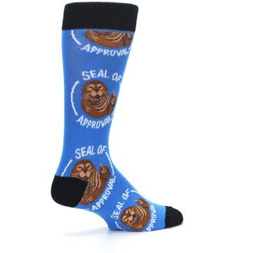 Image of Blue Seal of Approval Men's Dress Socks (side-1-23)