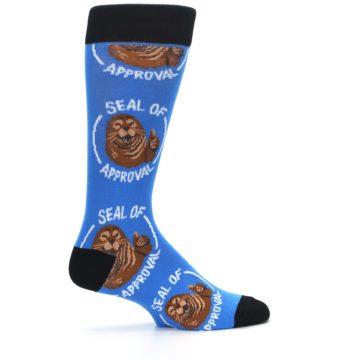 Image of Blue Seal of Approval Men's Dress Socks (side-1-24)