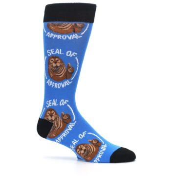 Image of Blue Seal of Approval Men's Dress Socks (side-1-25)