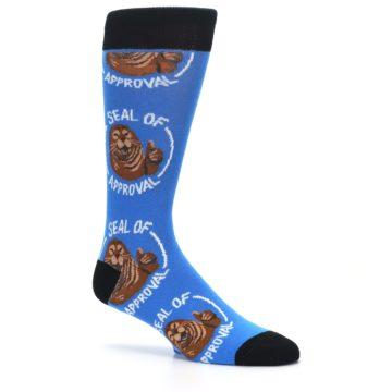 Image of Blue Seal of Approval Men's Dress Socks (side-1-26)