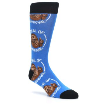 Image of Blue Seal of Approval Men's Dress Socks (side-1-27)