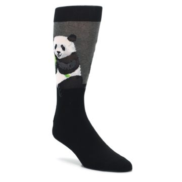 Black-Grey-Panda-Animal-Mens-Dress-Socks-Socksmith