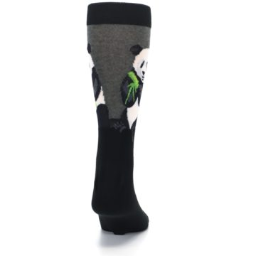 Image of Black Grey Panda Animal Men's Dress Socks (back-19)
