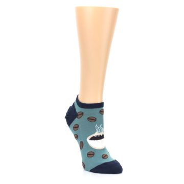 Image of Blues White Coffee Cup Women's Ankle Socks (side-1-front-02)