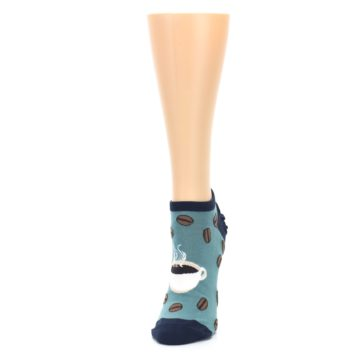 Image of Blues White Coffee Cup Women's Ankle Socks (side-2-front-07)