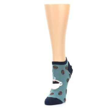 Image of Blues White Coffee Cup Women's Ankle Socks (side-2-front-08)
