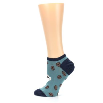 Image of Blues White Coffee Cup Women's Ankle Socks (side-2-13)