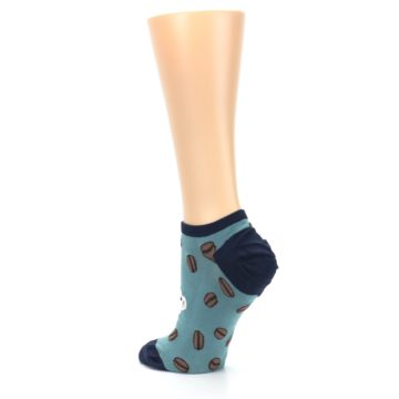 Image of Blues White Coffee Cup Women's Ankle Socks (side-2-back-15)