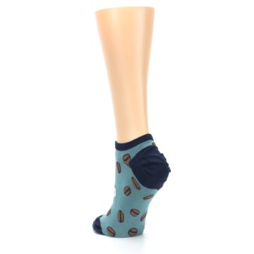 Image of Blues White Coffee Cup Women's Ankle Socks (side-2-back-16)