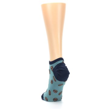 Image of Blues White Coffee Cup Women's Ankle Socks (back-17)