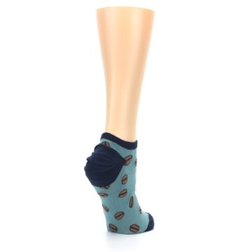 Image of Blues White Coffee Cup Women's Ankle Socks (side-1-back-22)