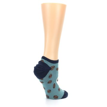 Image of Blues White Coffee Cup Women's Ankle Socks (side-1-23)