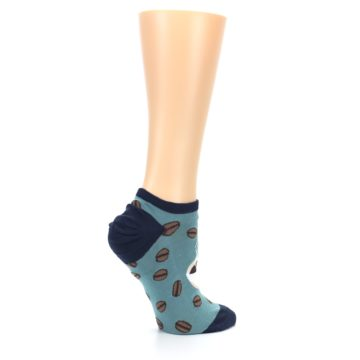 Image of Blues White Coffee Cup Women's Ankle Socks (side-1-24)