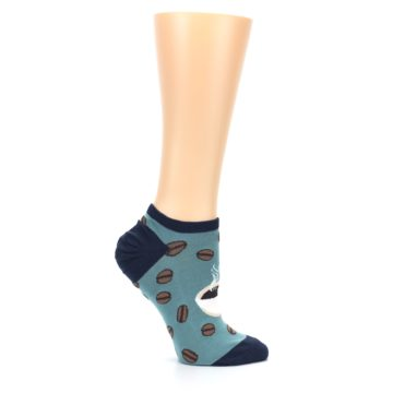 Image of Blues White Coffee Cup Women's Ankle Socks (side-1-25)