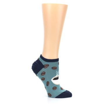 Image of Blues White Coffee Cup Women's Ankle Socks (side-1-26)