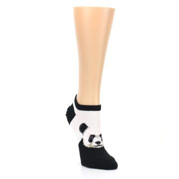 Image of Black White Panda Women's Ankle Socks (side-1-front-02)