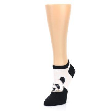 Image of Black White Panda Women's Ankle Socks (side-2-front-08)