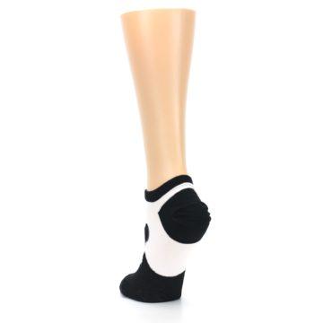 Image of Black White Panda Women's Ankle Socks (side-2-back-16)
