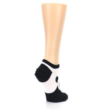 Image of Black White Panda Women's Ankle Socks (side-1-back-22)