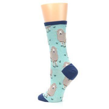 Image of Mint Heather Sheep Women's Dress Socks (side-2-back-14)