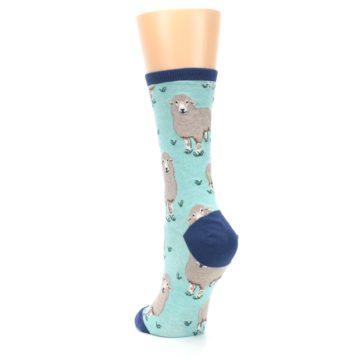 Image of Mint Heather Sheep Women's Dress Socks (side-2-back-16)