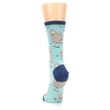 Image of Mint Heather Sheep Women's Dress Socks (back-17)