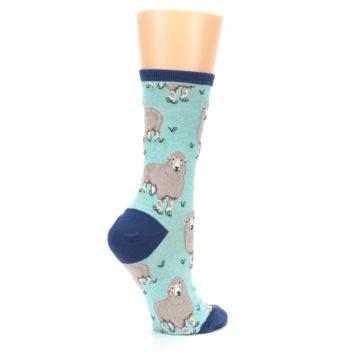 Image of Mint Heather Sheep Women's Dress Socks (side-1-23)