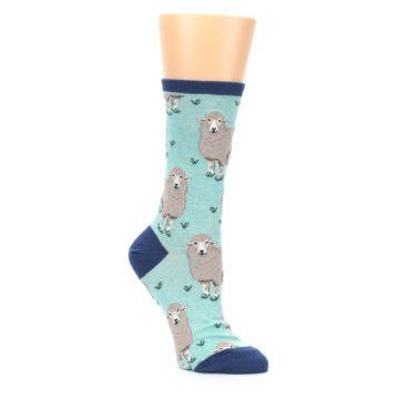 Image of Mint Heather Sheep Women's Dress Socks (side-1-27)