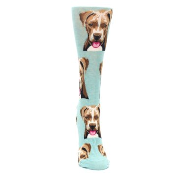 Image of Mint Pitbull Dog Women's Dress Socks (front-04)