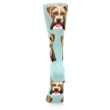 Image of Mint Pitbull Dog Women's Dress Socks (back-18)