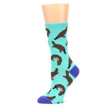 Image of Mint Platypus Women's Dress Socks (side-2-11)