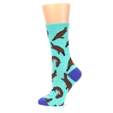 Image of Mint Platypus Women's Dress Socks (side-2-13)