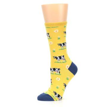 Image of Yellow Cows Women's Dress Socks (side-2-11)