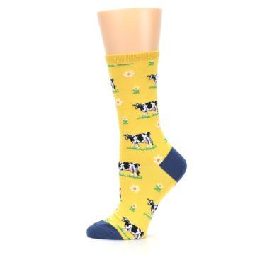Image of Yellow Cows Women's Dress Socks (side-2-12)