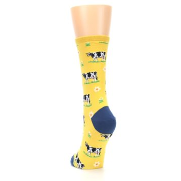 Image of Yellow Cows Women's Dress Socks (back-17)