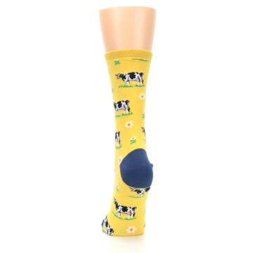 Image of Yellow Cows Women's Dress Socks (back-18)