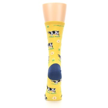Image of Yellow Cows Women's Dress Socks (back-19)
