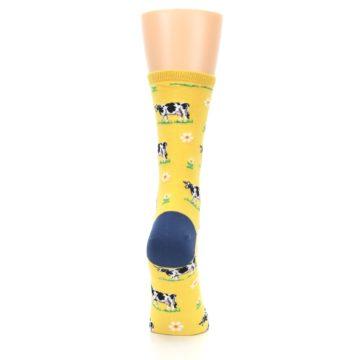 Image of Yellow Cows Women's Dress Socks (side-1-back-20)