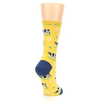 Image of Yellow Cows Women's Dress Socks (side-1-back-22)