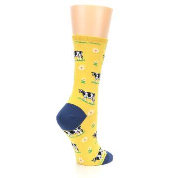 Image of Yellow Cows Women's Dress Socks (side-1-23)
