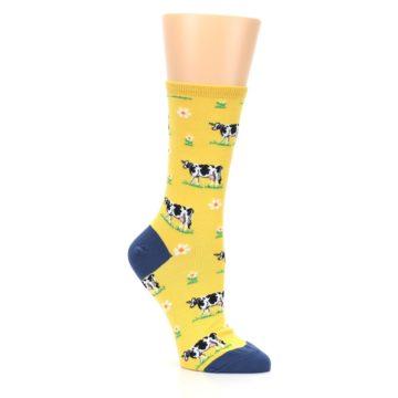 Image of Yellow Cows Women's Dress Socks (side-1-27)
