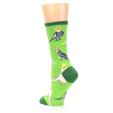 Image of Green Parrot Birds Women's Dress Socks (side-2-back-15)