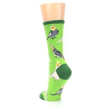 Image of Green Parrot Birds Women's Dress Socks (side-2-back-16)