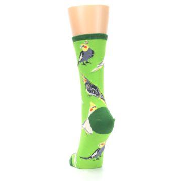 Image of Green Parrot Birds Women's Dress Socks (back-17)