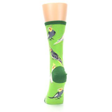 Image of Green Parrot Birds Women's Dress Socks (back-18)