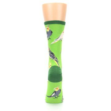 Image of Green Parrot Birds Women's Dress Socks (back-19)