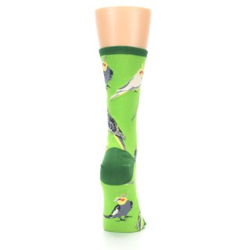 Image of Green Parrot Birds Women's Dress Socks (side-1-back-20)