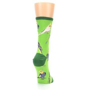 Image of Green Parrot Birds Women's Dress Socks (side-1-back-21)