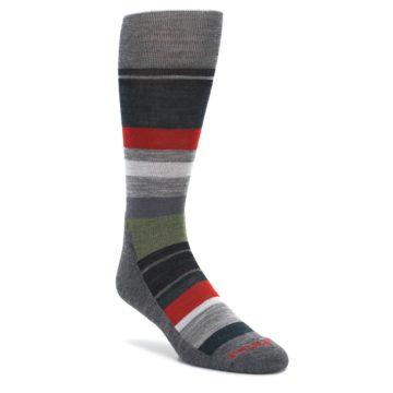 Gray Multi Stripe Wool Mens Casual Socks Smartwool